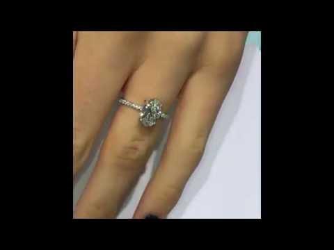 1.50 carat Oval Diamond Engagement Ring
