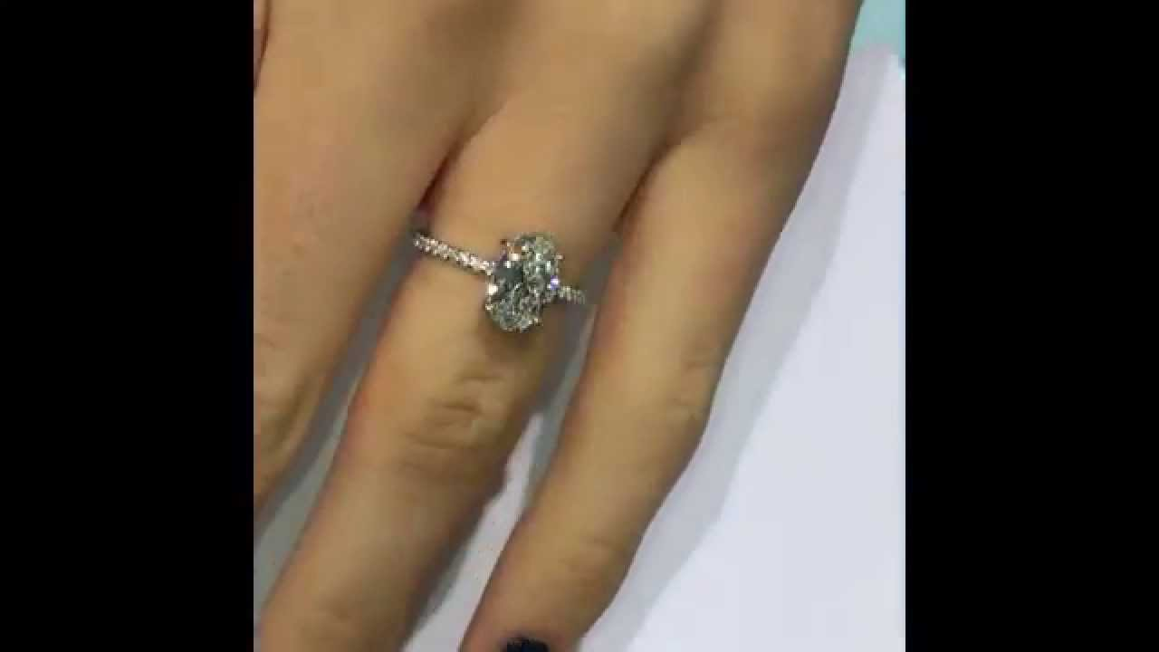 1 50 Carat Oval Diamond Engagement Ring Youtube