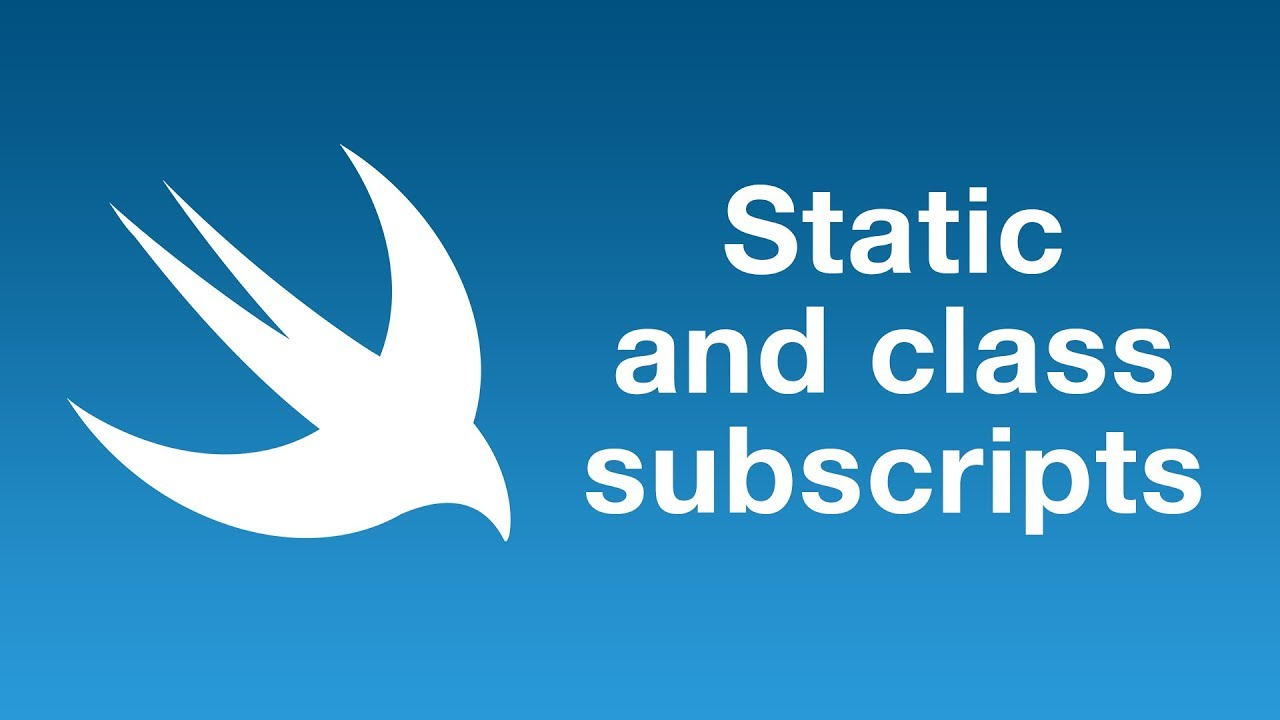 Static and class subscripts in Swift 5 1