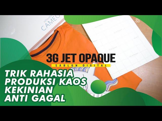 Tutorial Mencetak Kaos di Cotton Combed Menggunakan Kertas 3G jet Opaque