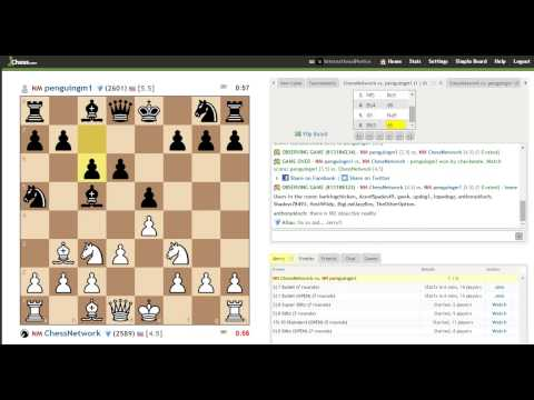 Novice Kibitzing #11 NM Chessnetwork vs NM Penguingm1
