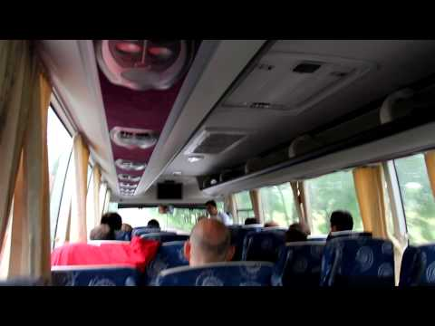 North Korea guide telling a Joke at the bus. Amazing...