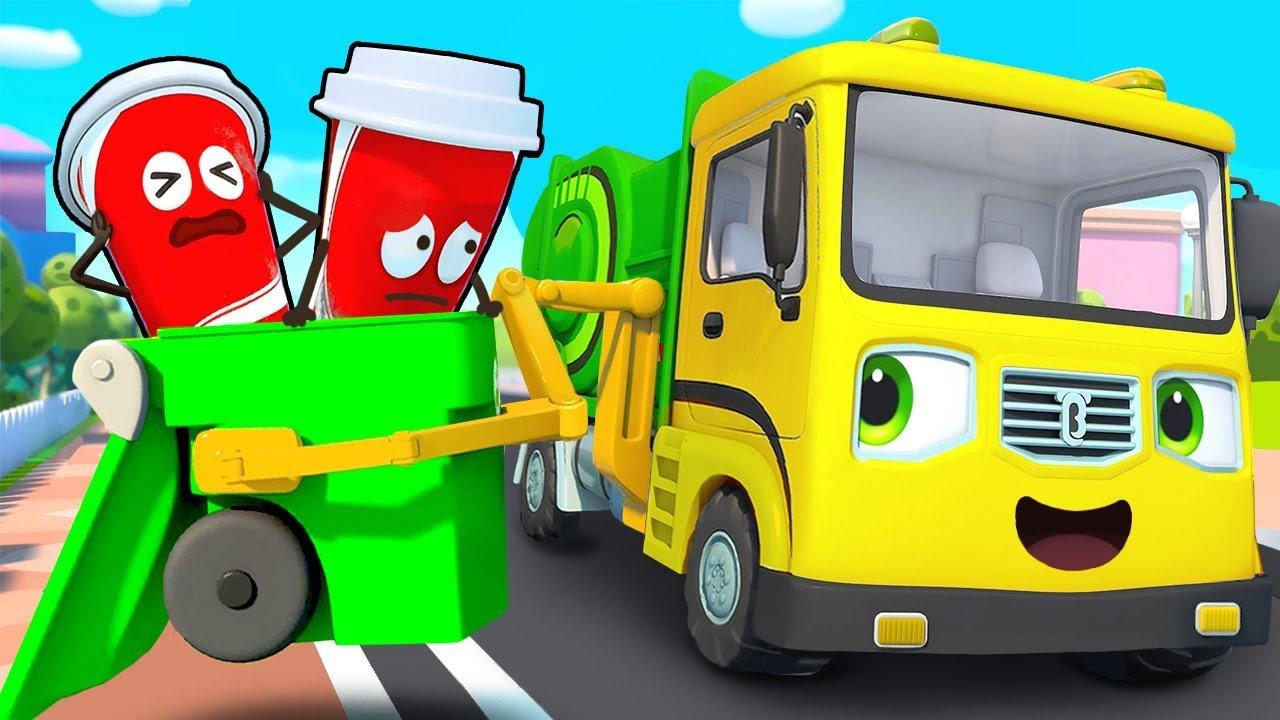 Xe chở rác chăm chỉ | Bài hát xe chở rác | Nhạc thiếu nhi vui nhộn | BabyBus