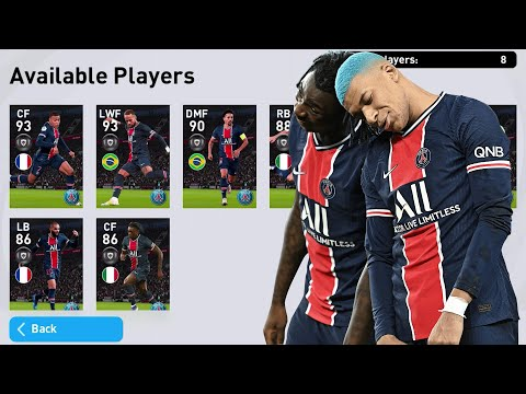eFootball PES 2021 Mobile ⚽ Android Gameplay #96 Club Selections: Psg, Monaco, Inter, Milan