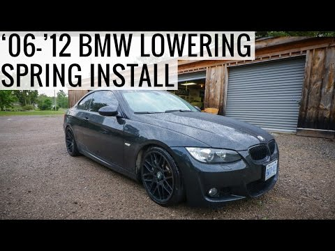 How To Lowering Spring Install on 2006-2012 BMW E90 E92 335i 328i