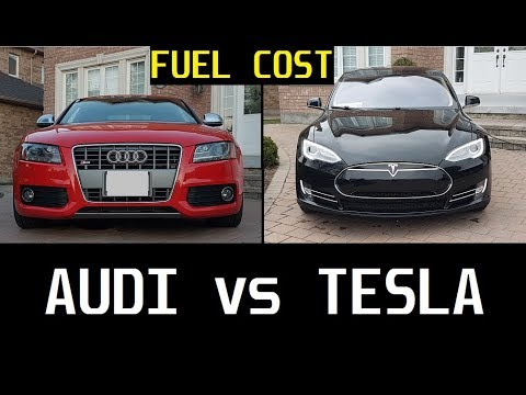FUEL COST: Tesla P85 vs Audi S5... How Much Cheaper Is An EV???