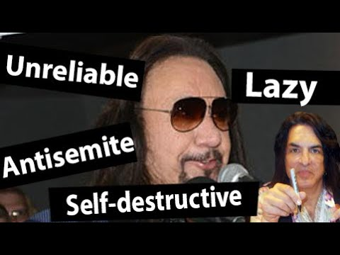 Ace Frehley is a lazy paranoid anti-Semitic Nazi