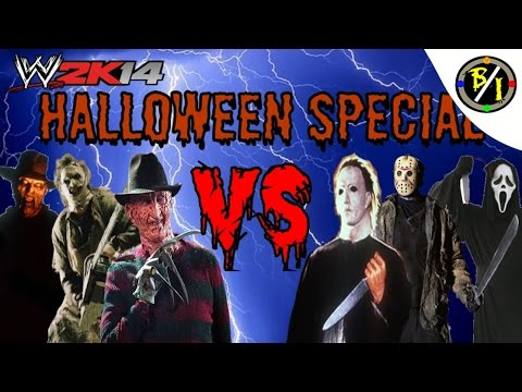WWE 2K14: Micheal Myers, Jason Voorhees & Ghostface Vs. Freddy Krueger, Leatherface & The Creeper