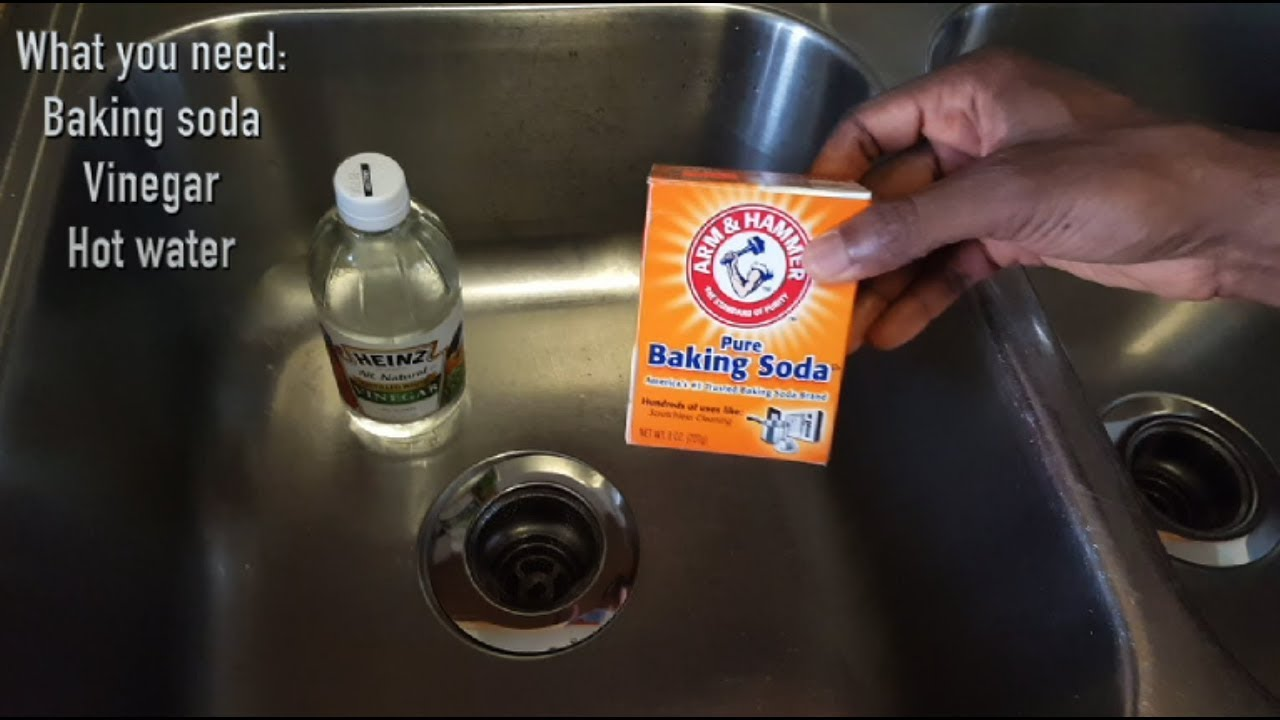 unclog bathroom sink baking soda vinegar how to unclog your kitchen sink with baking soda and 25809