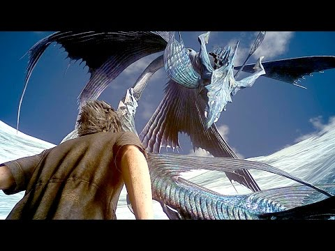 FINAL FANTASY XV NEW Gameplay Giant Monster Boss Battle (PS4 Pro)