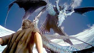 FINAL FANTASY XV NEW Gameplay Giant Monster Boss Battle (PS4 Pro)