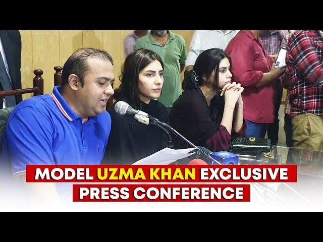 Model Uzma Khan Exclusive Press Conference