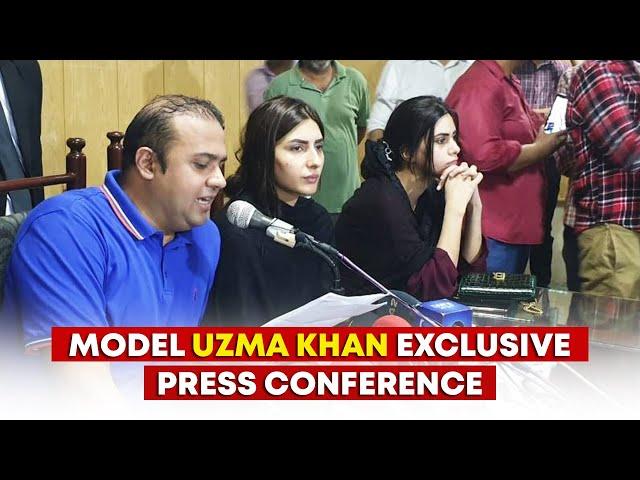 Model Uzma Khan Exclusive Press Conference