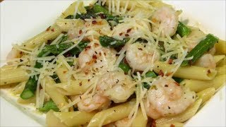 Shrimp & Asparagus With Penne Pasta - Shrimp With Garlic Sauce