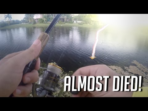 Almost struck by lightning while fishing! Illegal driving...