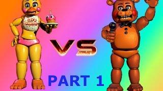 Toy Freddy VS Toy Chica Gmod NPC Battle 19# PART 1 (Swedich)