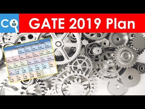 GATE 2019 Preparation Plan for Mechanical | BATMAN Plan