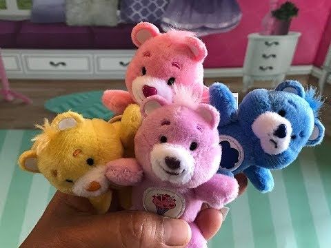 aa42aafc646 Unboxing the World s Smallest Care Bears! CUTE Miniature Plush Bears ...