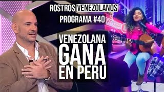 Venezolana gana competencia de talentos en Perú. Ricardo Morán y July Naters la eligieron