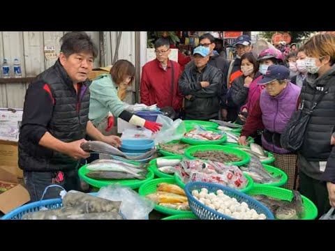 Taiwan Seafood Auction - Amazing Fish Cutting And Sale !