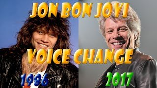 Jon Bon Jovi Voice Change Livin On A Prayer 1986 2017