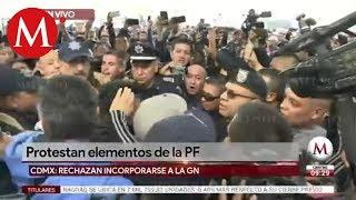 Policías federales vs Guardia Nacional: protestan y agreden a coordinadora