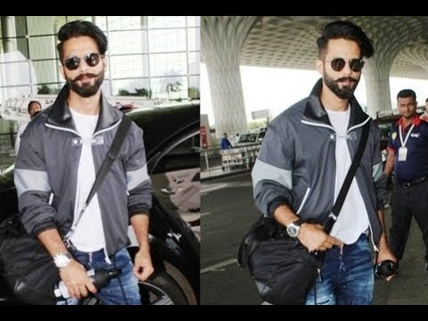 Shahid Kapoor In New Cool Look Snapped At Mumbai Airport