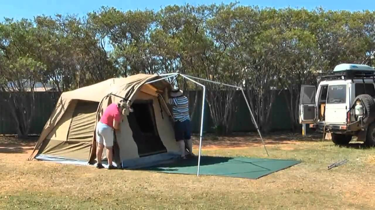& Erecting our Black Wolf Tent - YouTube