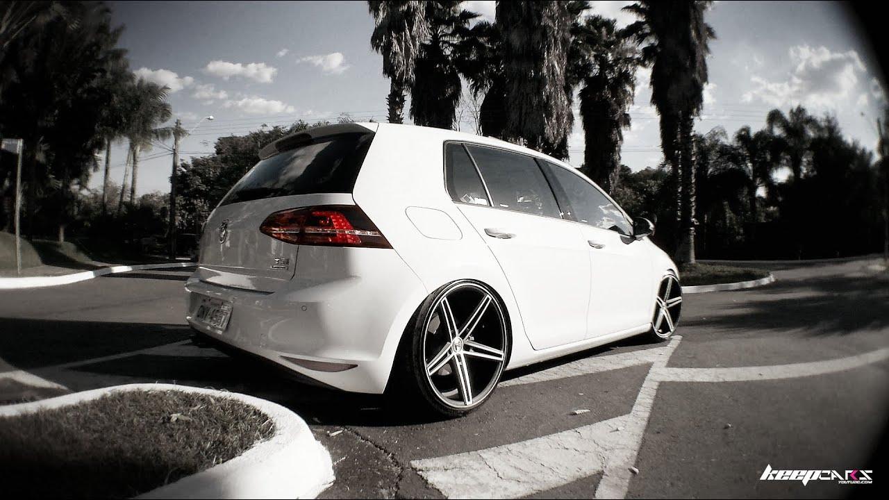 "Mk7 Golf R >> Golf TSI, rodas concave, aro 19"", suspensão fixa - keepcars - YouTube"