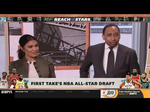 Stephen A. REVEAL NBA All-Star Draft: How to watch Team LeBron and Giannis draft picks | First Take thumbnail