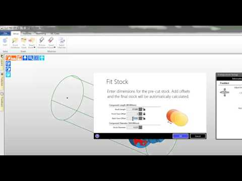 3. Edgecam TestDrive tutorial - Create stock turning