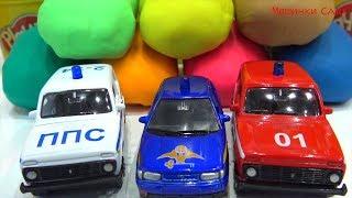 Машинки Cars play doh про машинки милиция скорая помощь play doh video for kids toy kids learn color