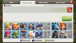 Train 24 valkyries with only one gem Glitch. Clash of clans 2016 oct update. Th8