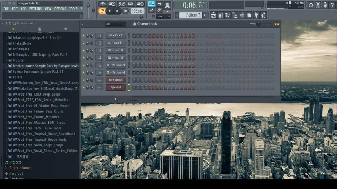 FL Studio Tutorial #1: Epic minimal Tropical House Beat in 5 Min ...