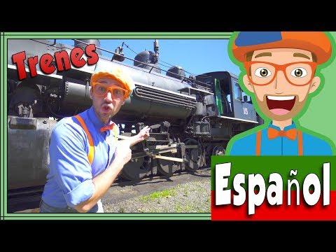 Trenes Infantiles Con Blippi Español | Viaje En El Tren A Vapor