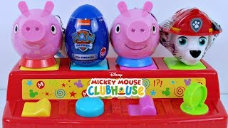 Pop Up A Casa do Mickey Mouse Clubhouse com Surpresas da Patrulha Canina e da Peppa Pig Learn Colors