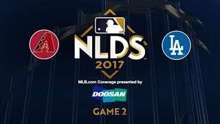 Dodgers stop D-backs' comeback in Game 2 win: 10/7/17