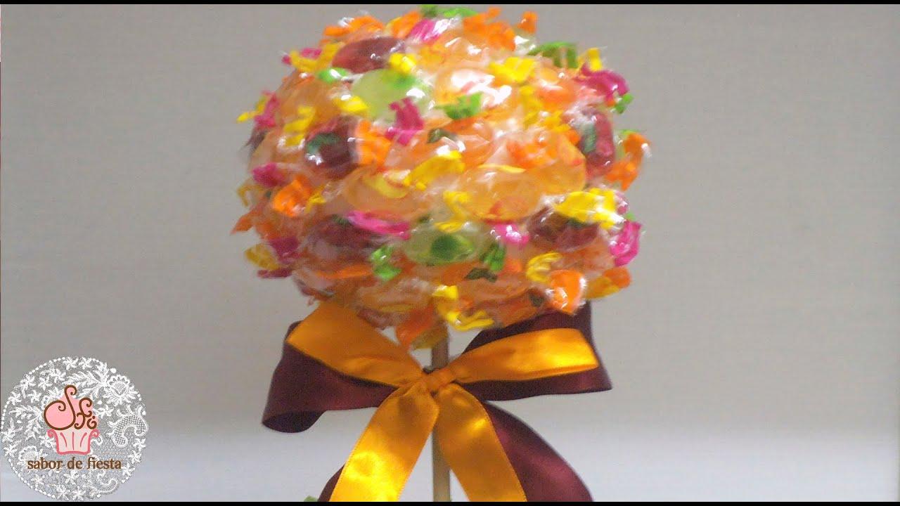 Rbol de caramelos candy tree youtube - Como hacer figuras con chuches ...