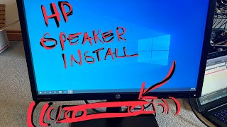 Install hp speaker bar on monitor