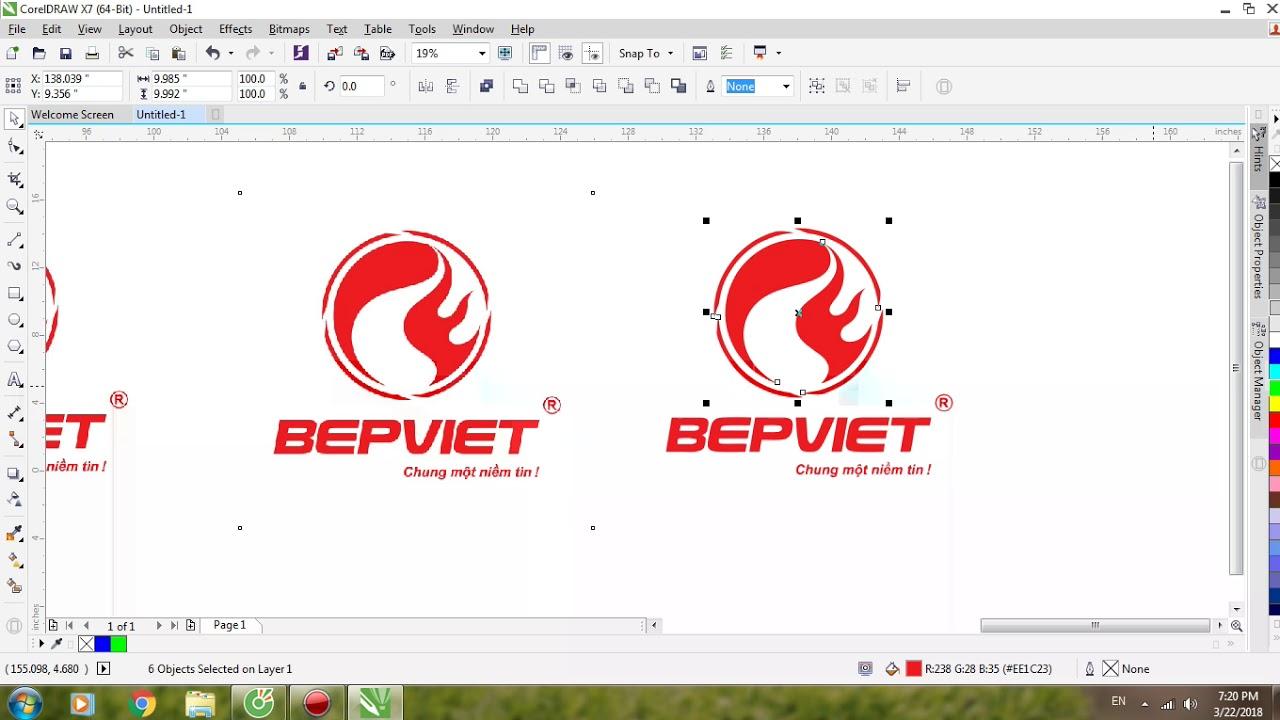 Hướng Dẫn Vẽ Logo Cơ Bản Trên Corel X7