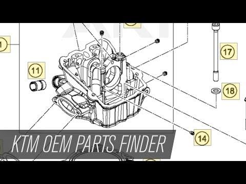 KTM Motorcycle OEM Parts Finder