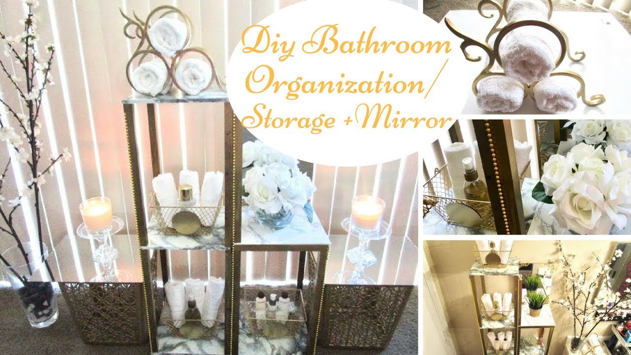Diy Bathroom Storage/Organization with a Mirror Design *upcycle ...