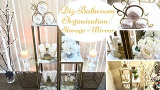 Diy Bathroom Storage/Organization with a Mirror Design *upcycle*