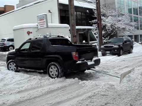 Honda Ridgeline with Homemade Snowplow YouTube