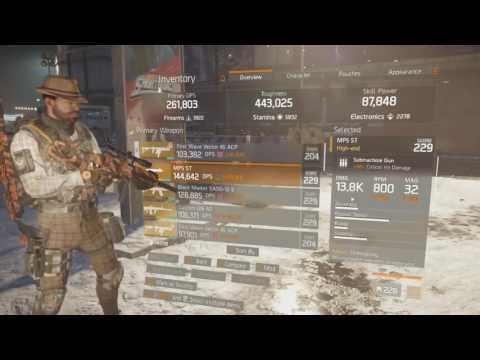 The Division Best 1.4 SMG Build Guide + Gameplay (AlphaBridge)