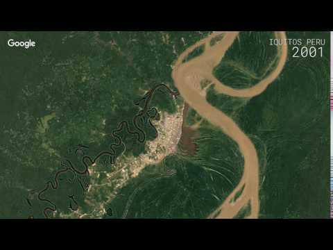 Google Timelapse: Iquitos, Peru