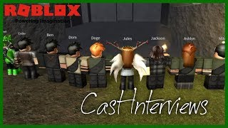 Cast Interviews!! | The Maze Runner Roleplay | Roblox