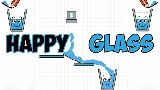 Happy Glass - Draw Creative Line And Connect The Water Walkthrough Level 45- 60 | Android Gameplay