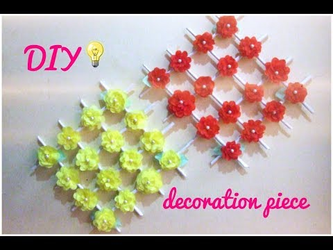 Diy Room Decoration Idea How To Make Wall Hanging Flowers