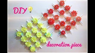 DIY room decoration idea   How to make wall hanging flowers paper craft thumbnail